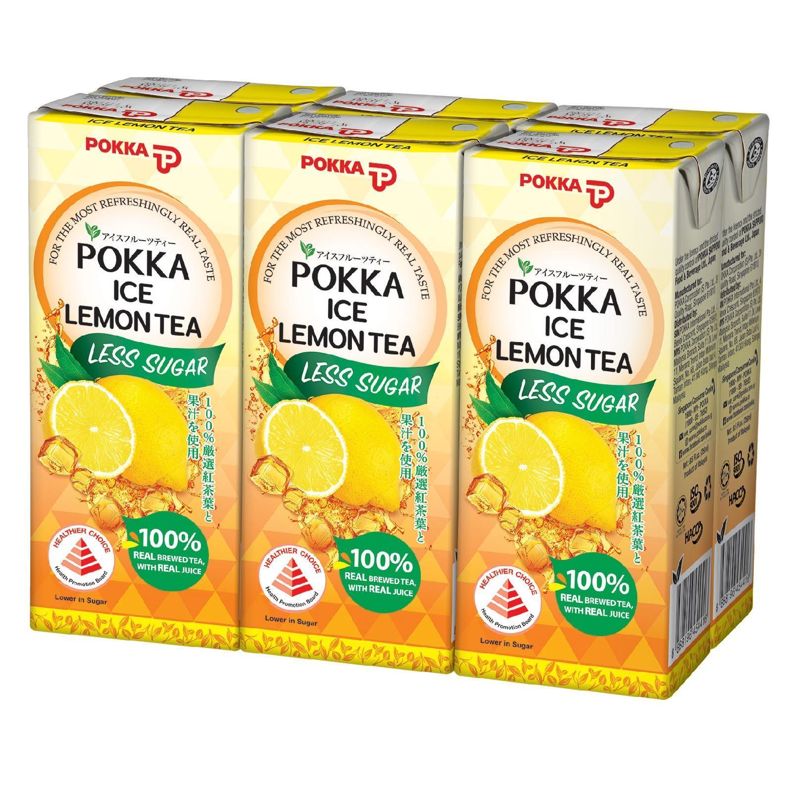 Pokka Ice Lemon Tea (Less Sugar)