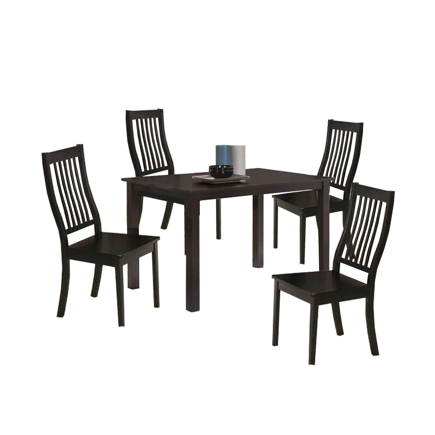 LIVING MALL_Woody Dining Set_1+4_FREE DELIVERY