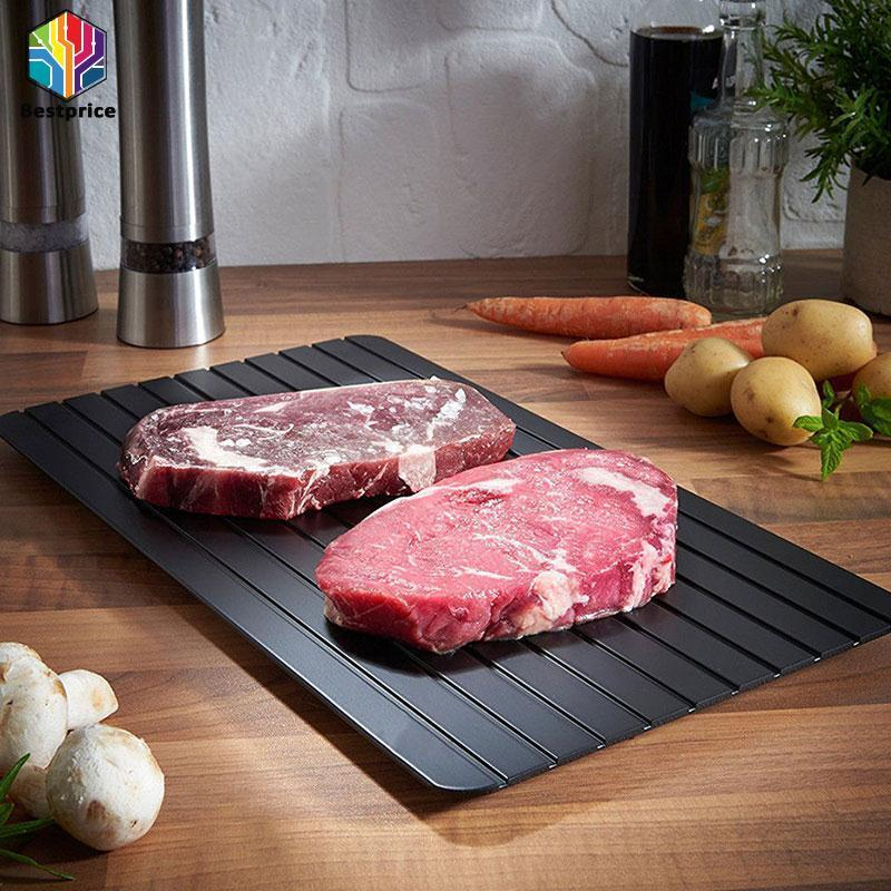 Kitchen Safe Fast Defrosting Tray Food Thaw Dish Defrost Meat Frozen Tools
