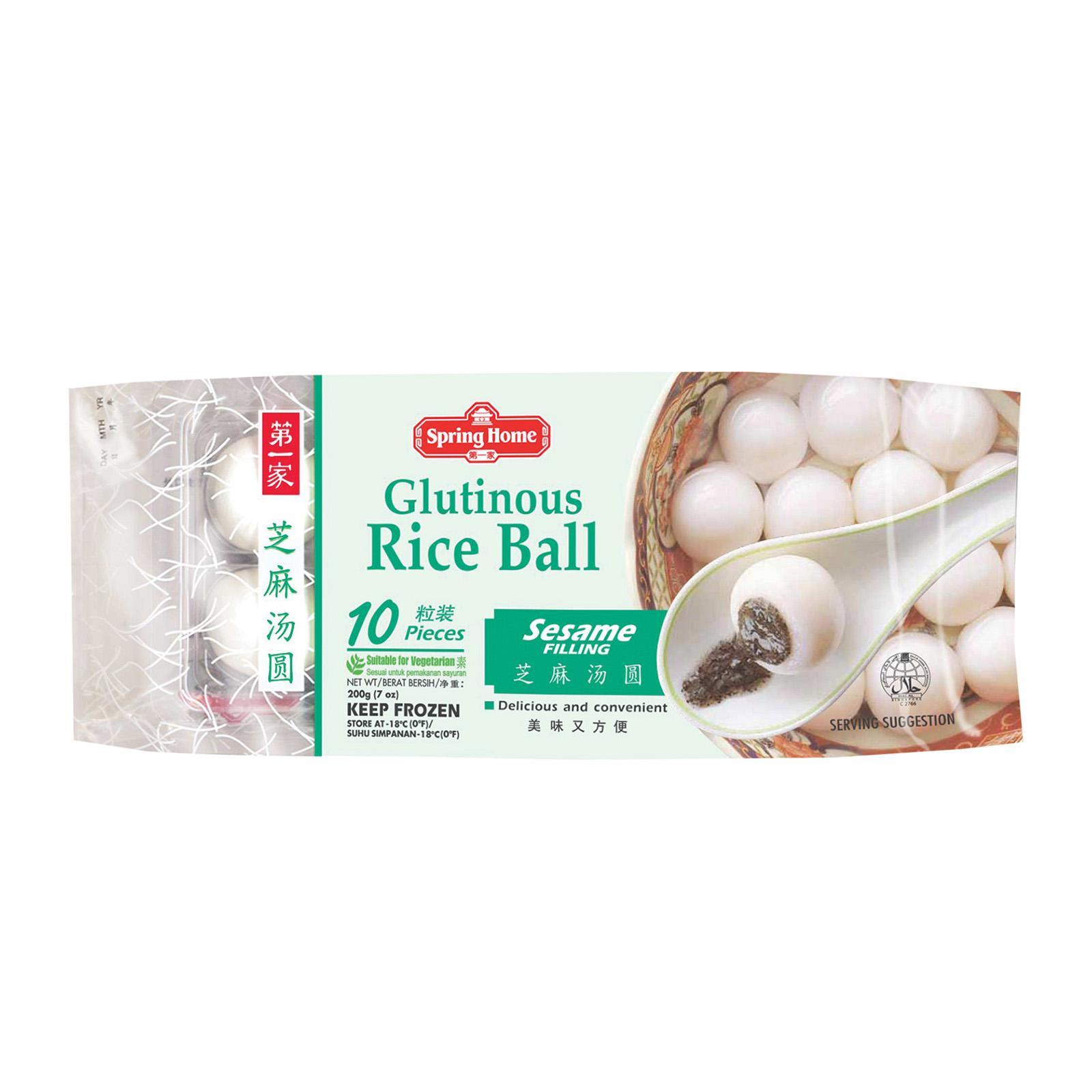 Spring Home Glutinous Rice Ball - Sesame (10 Pcs) - Frozen By Redmart.