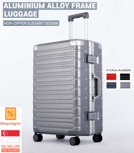 TRAVELLER 2020 New Classic Aluminium Alloy Frame Travel Luggage Case with TSA Lock 20 26 29 Inch Suitcase Trolley Bag *FREE SHIPPING*