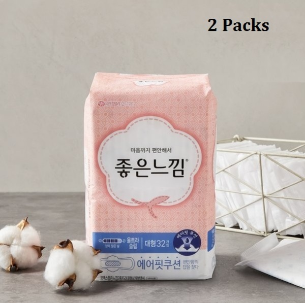 Buy Korea Good Feel Ultra Slim 26cm (2 Packs) Sanitary Pad with wings; Flexible Feminine Care Protection; Ultimate Absorbency; Smoove1 Singapore