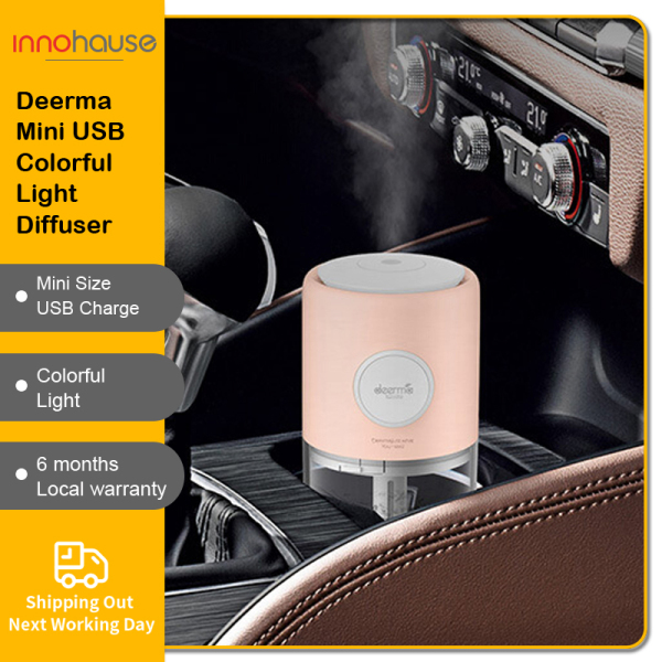 Deerma Mini Car Humidfier Portbale USB Aroma Essential Oil Diffuser Air  Fast Charger Night Lights Singapore
