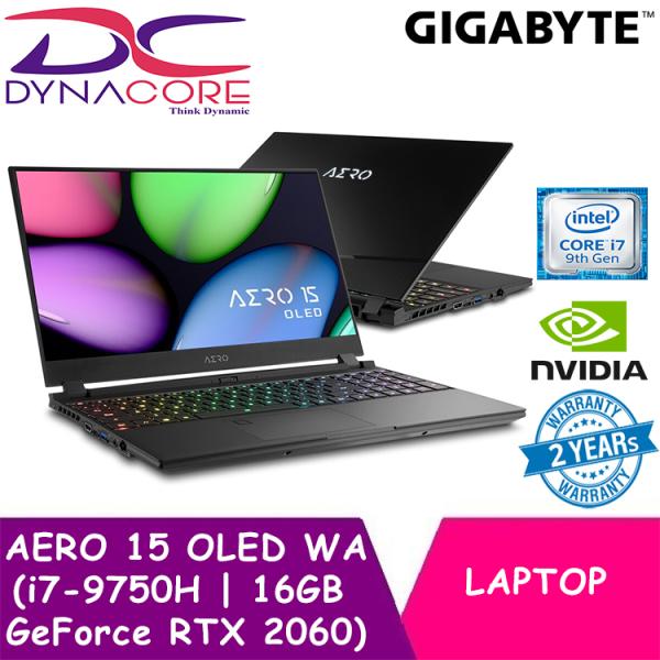 DYNACORE - GIGABYTE AERO 15 OLED WA (i7-9750H/16GB SAMSUNG DDR4 2666 (8GBx2)/GeForce RTX 2060 GDDR6 6GB/512GB INTEL 760P PCIE SSD/15.6inch Thin Bezel Samsung 4K UHD AMOLED/WINDOWS 10 PROFESSIONAL)