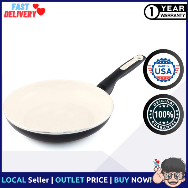GreenPan Rio Healthy Ceramic Nonstick, Frying Pan, 10, Black Singapore