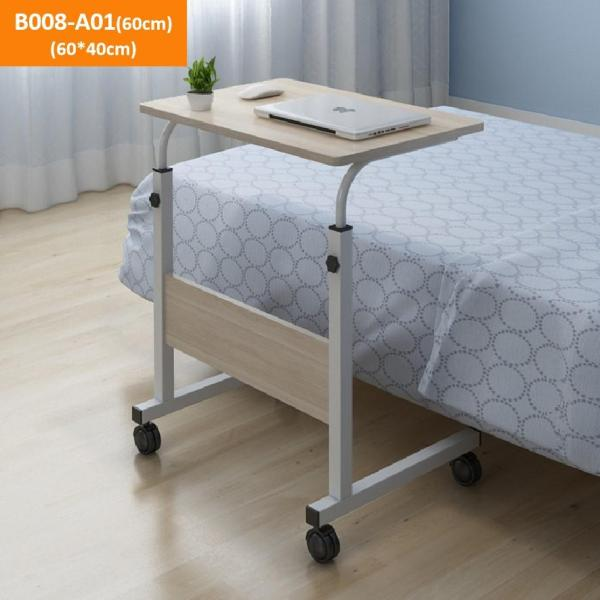AIDEAL.sg Movable Adjustable Bedside Study Laptop Computer Table Desk for Bedrooms with Wheels