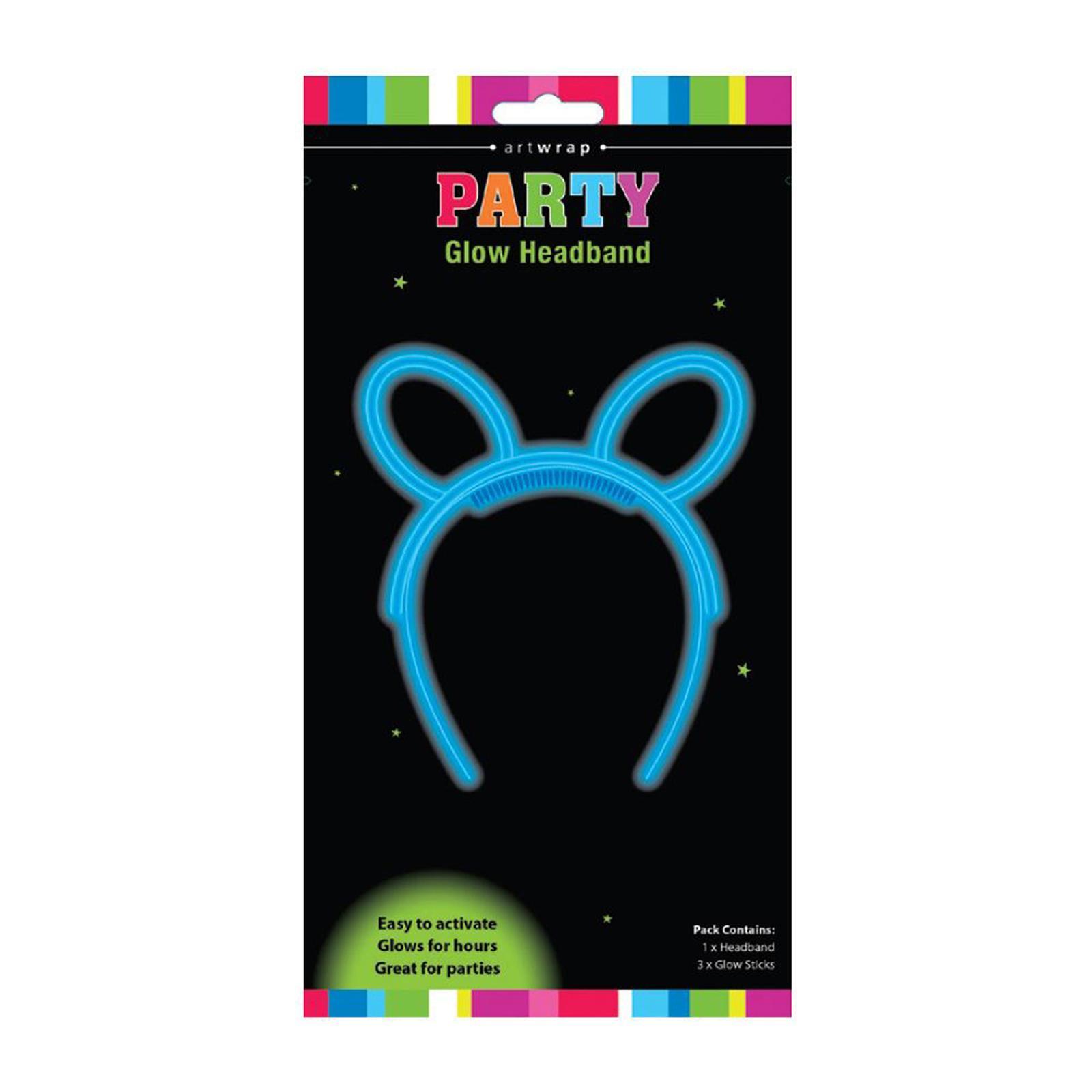 Artwrap Party Glow Headband - Blue