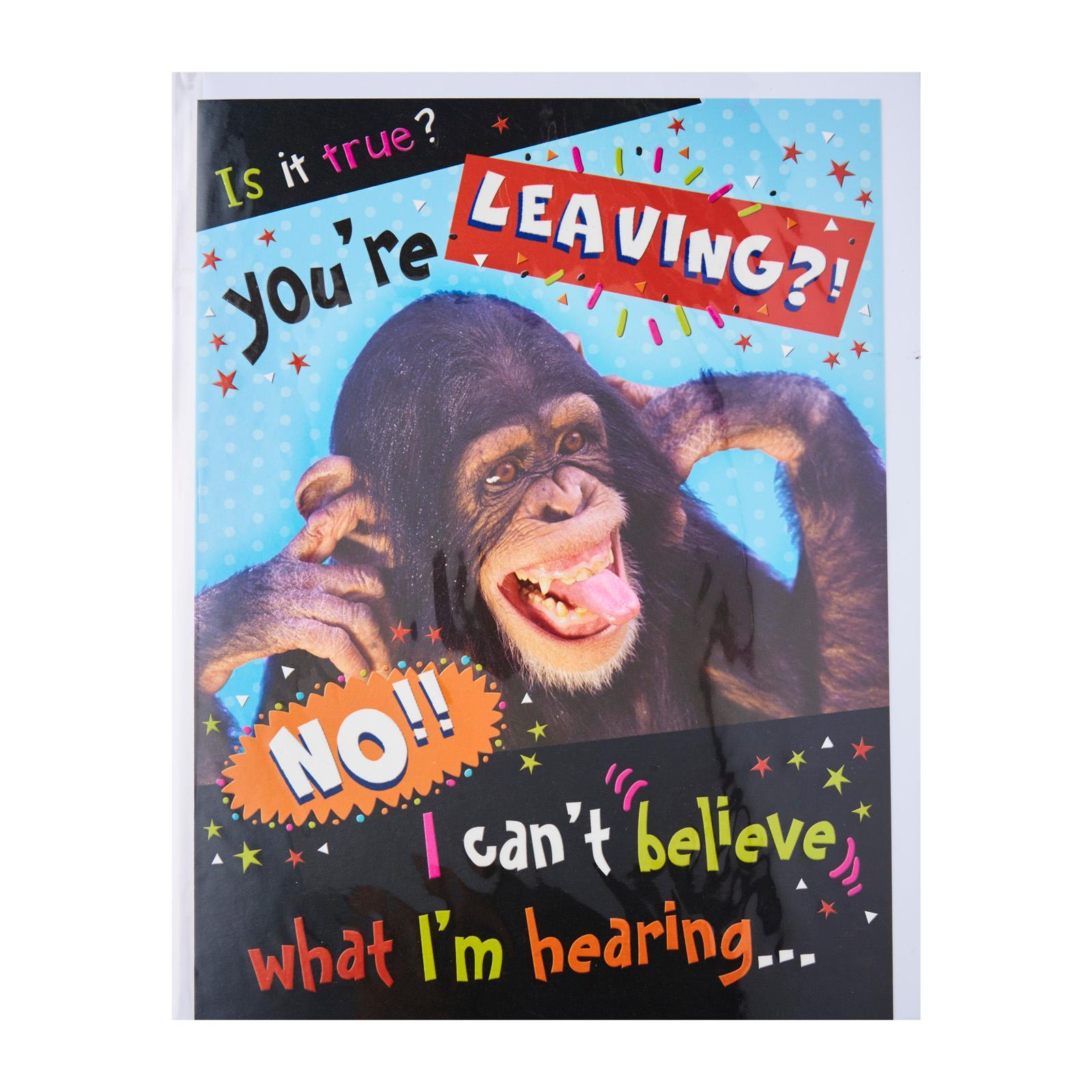 Pink Chilli Designs Farewell Card - Is It True? You're Leaving?! No!! I' Can't Believe What I'M Hearing...