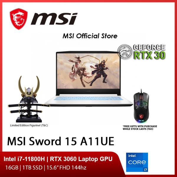 NEW 11th Gen MSI Sword15 A11UE-264SG Gaming Laptop (i7-11800H/RTX 3060/15.6 FHD 144hz/W10/2Y)