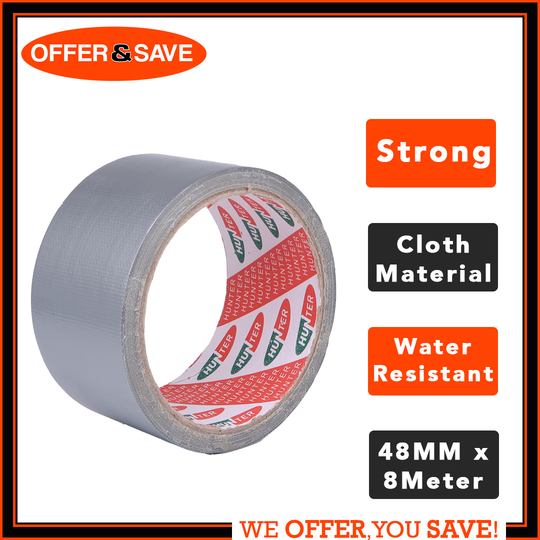 "6 Rolls Quik Tak Industrial Polypropylene Rubber Adhesive Tape 2/"" x 110 Yd Tan"