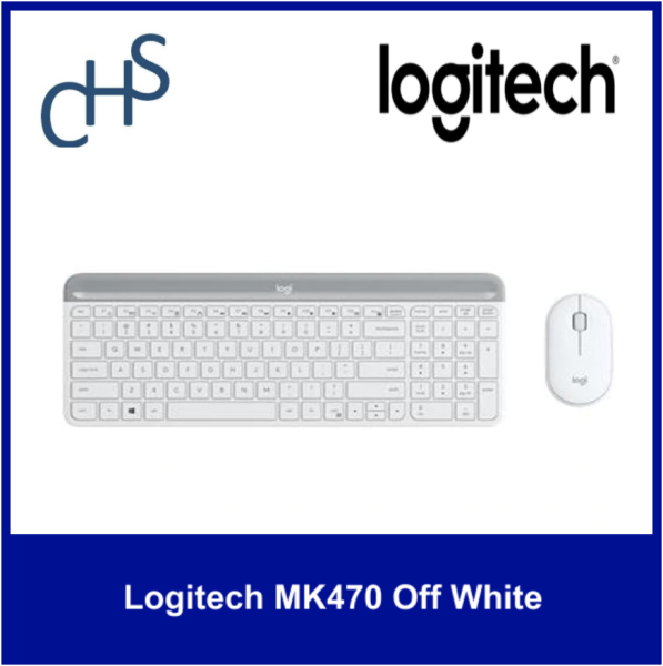 (Original) Logitech MK470 Graphite | Wireless | Long battery life | Quiet | Compatible for Windows® 10 or later, Windows 8, Windows 7 | 1 year warranty Singapore