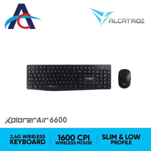 Alcatroz Xplorer Air 6600 2.4G Wireless Keyboard and Mouse Combo Singapore
