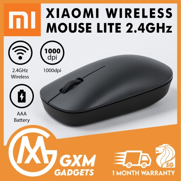 Xiaomi Wireless Mouse Lite 2.4GHz 1000DPI Ergonomic Optical Portable Computer Mice USB Receiver Office Game Mice For PC and Laptop