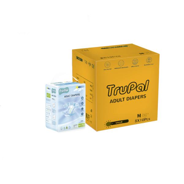 Buy Trupal Value Adult Diapers - M/L - Carton - 10 x 8 Singapore