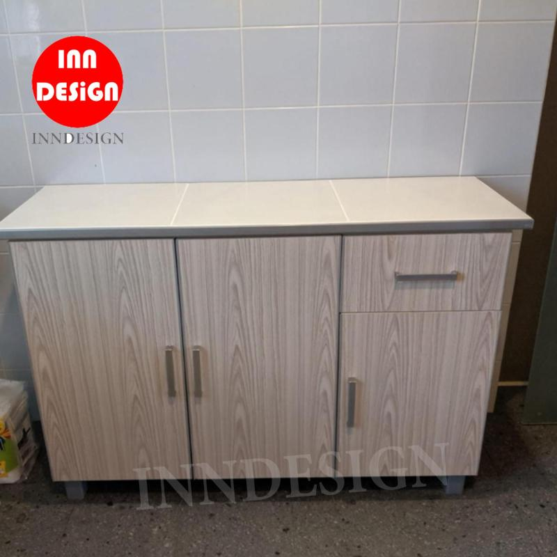 Don 3 Doors Kitchen Cabinet with Drawer (Free Delivery and Installation) (with Ceramic Tiles Top)