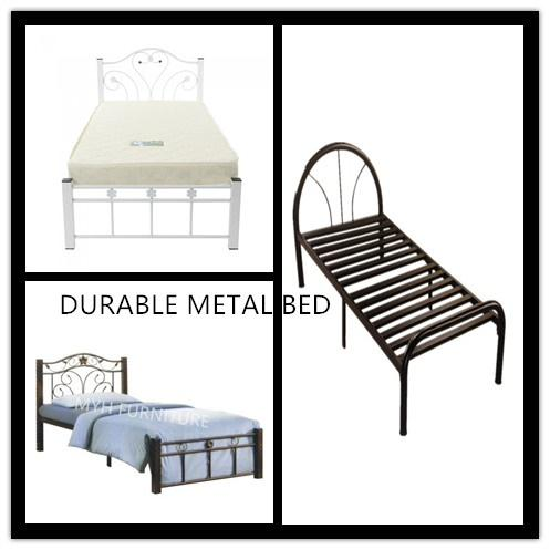 DURABLE METAL SINGLE BED