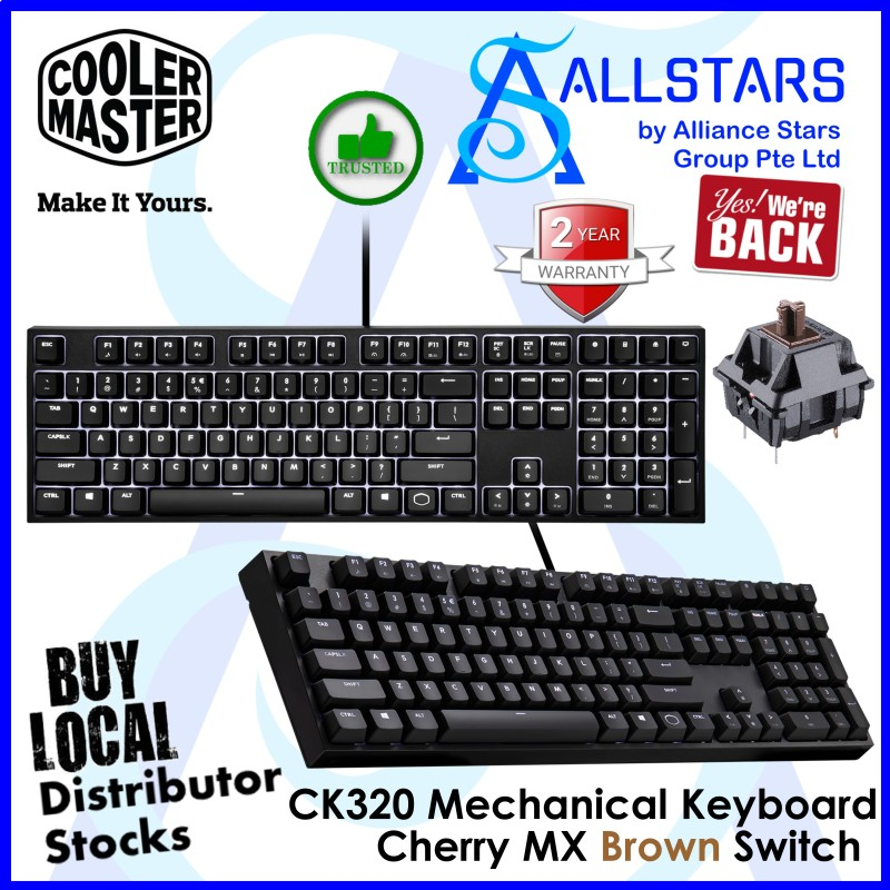 (ALLSTARS : We are Back Promo) CM / CoolerMaster Cherry MX CK320 / CK-320 Mechanical Keyboard (Warranty 2years with Local Distributor BanLeong) Singapore