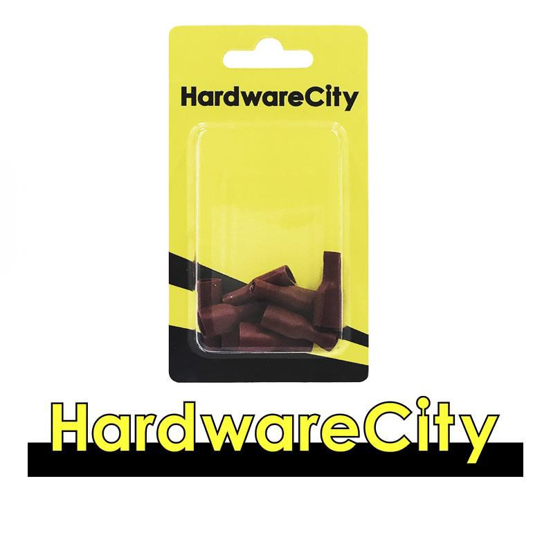 HardwareCity Fully Insulated Crimp Female Connectors, Red (22AWG - 16AWG), 10PC/Pack