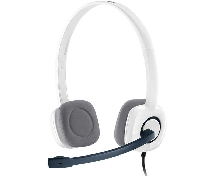LOGITECH H150 STEREO HEADSET (CLOUD WHITE) (2Y)