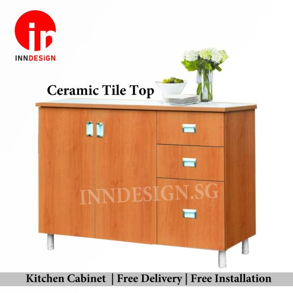 [Delivery Within 1-3 Days] Aeli 4ft Solid Plywood Kitchen Cabinet (Free Delivery and Installation) (Can Fit Gas Cylinder)