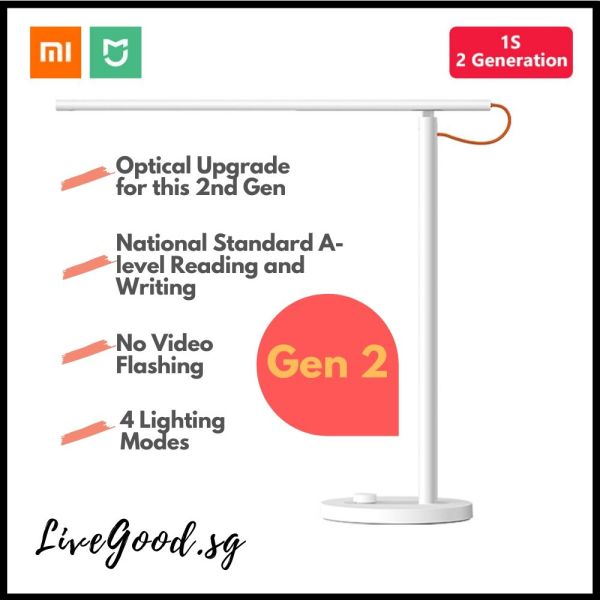 Xiaomi Smart LED Desk/Table Lamp 1s With 4 Lighting Modes (Works with Mijia and Apple Homekit)