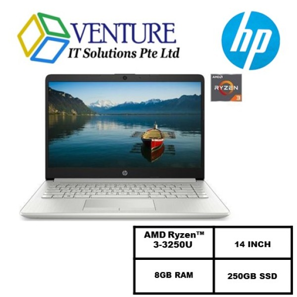 HP 14″ Ryzen 3-AMD Ryzen™ 3 3250U / 8GB /250GB SSD/ 14 INCH/Windows 10 Home in S mode/ 1Y warranty/ Silver