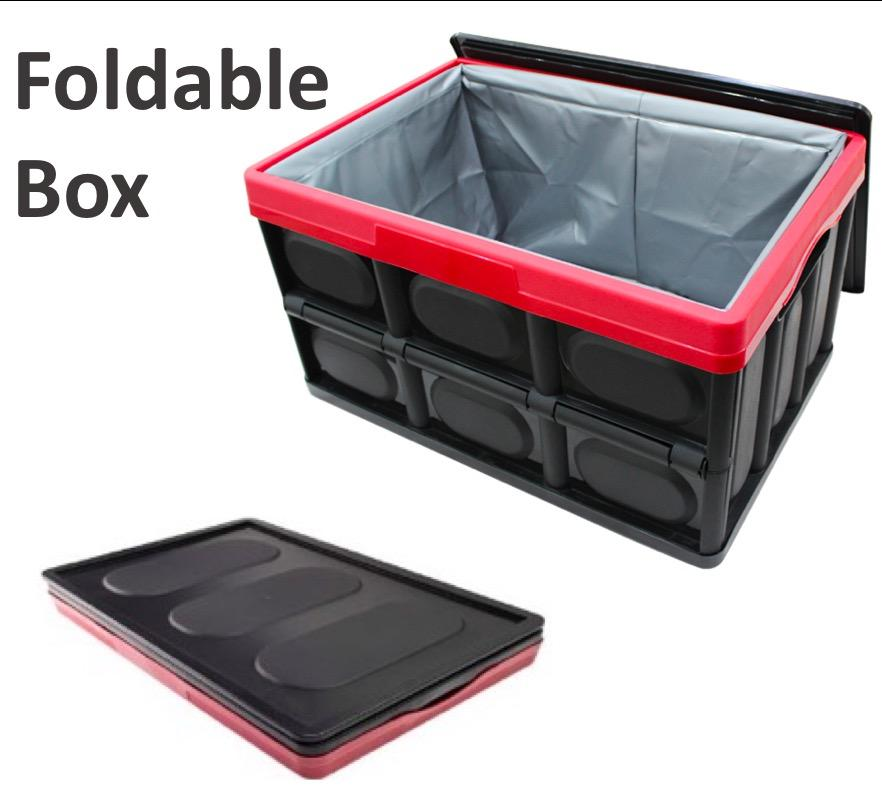 Collapsible Storage Box Folding Plastic Boxes Toy Storage Bins Car Boot Organizer Container with Lids Waterproof Bag Large Storage Totes