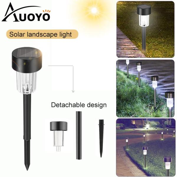 Auoyo Đèn LED Trang Trời Solar Lights Outdoor Lighting Solar Pathway Lamp Outdoor Garden Lights Solar Landscape Lights Security Lamp for Outdoor Yard Patio Walkway Driveway