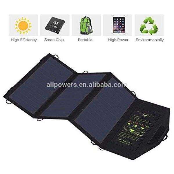 Cool Solar 21 Watt Solar Panel Charger with Dual USB Ports Foldable High Effiency Outdoor Solar Panel for Smart Cell Phones