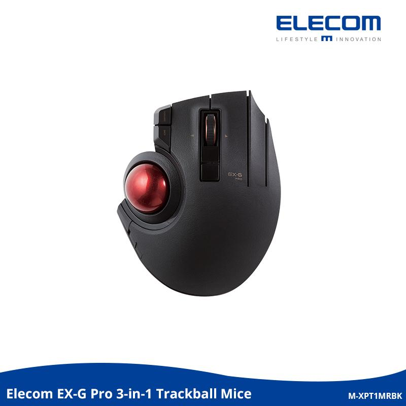 Elecom 3-in-1 Trackball Mouse [Wireless, Wired & Bluetooth] EX-G with 8 Buttons