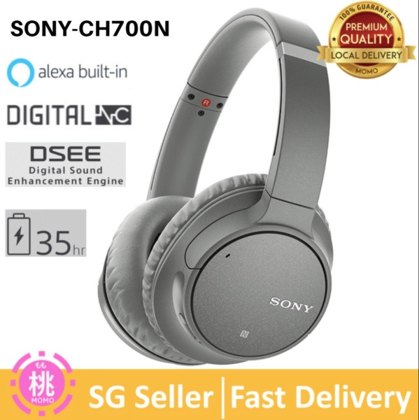 Sony WH-CH700N / CH700N Wireless Bluetooth Noise Canceling Over the Ear Headphones with Alexa Voice Control – CH700 ( Brand New ) Singapore