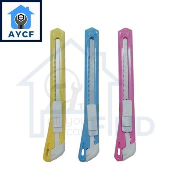 AYCF Multi-Purpose 9mm Blade Pen Knife for Office and Work Place with Auto Lock