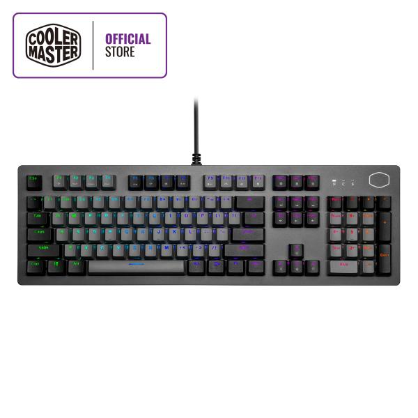 Cooler Master CK352 Mechanical Keyboard, Dual-tone Keycap, ABS Double-Injection Keycap, Side Ambience Lightbars, Sandblasted Aluminium Top Plate, Slim Body Frame (Full Layout / 108 Keys)