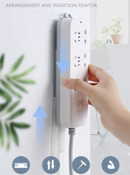 Socket holder Panel Socket Patch Plug Holder Organizer Storage Wall-mounted Strong Traceless Household Non-perforated Hang Wall