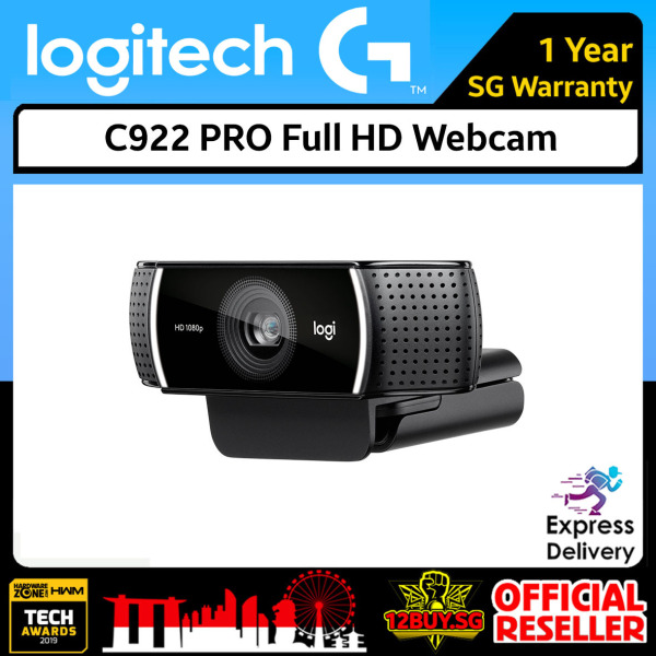 Logitech C922 PRO Stream Full HD Webcam 3PM.SG 12BUY.SG 1 Year SG Warranty Express Door Delivery 3 to 7 Days