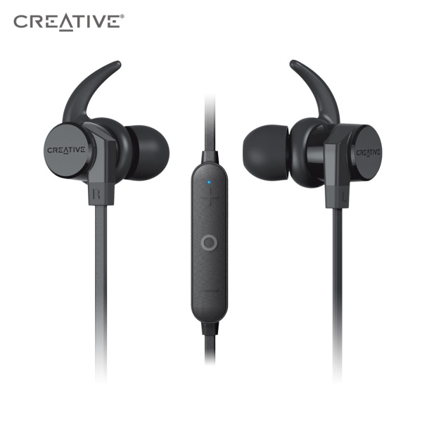 Creative Outlier ONE V2 Wireless Bluetooth 5.0 Sweatproof in-Ear Headphones with IPX5-Certified Water-Resistant, Built-in Microphone, and 9.5 Hours Battery Life for Gym, Running, Exercise and Sports Singapore