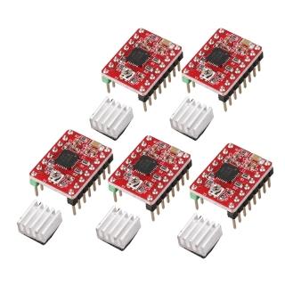 Makerbase 5Pcs 3D Printer Parts StepStick Reprap A4988 Stepper Motor Driver with Heatsink Default 0.5A MAX 1A Good Circuit Protection thumbnail
