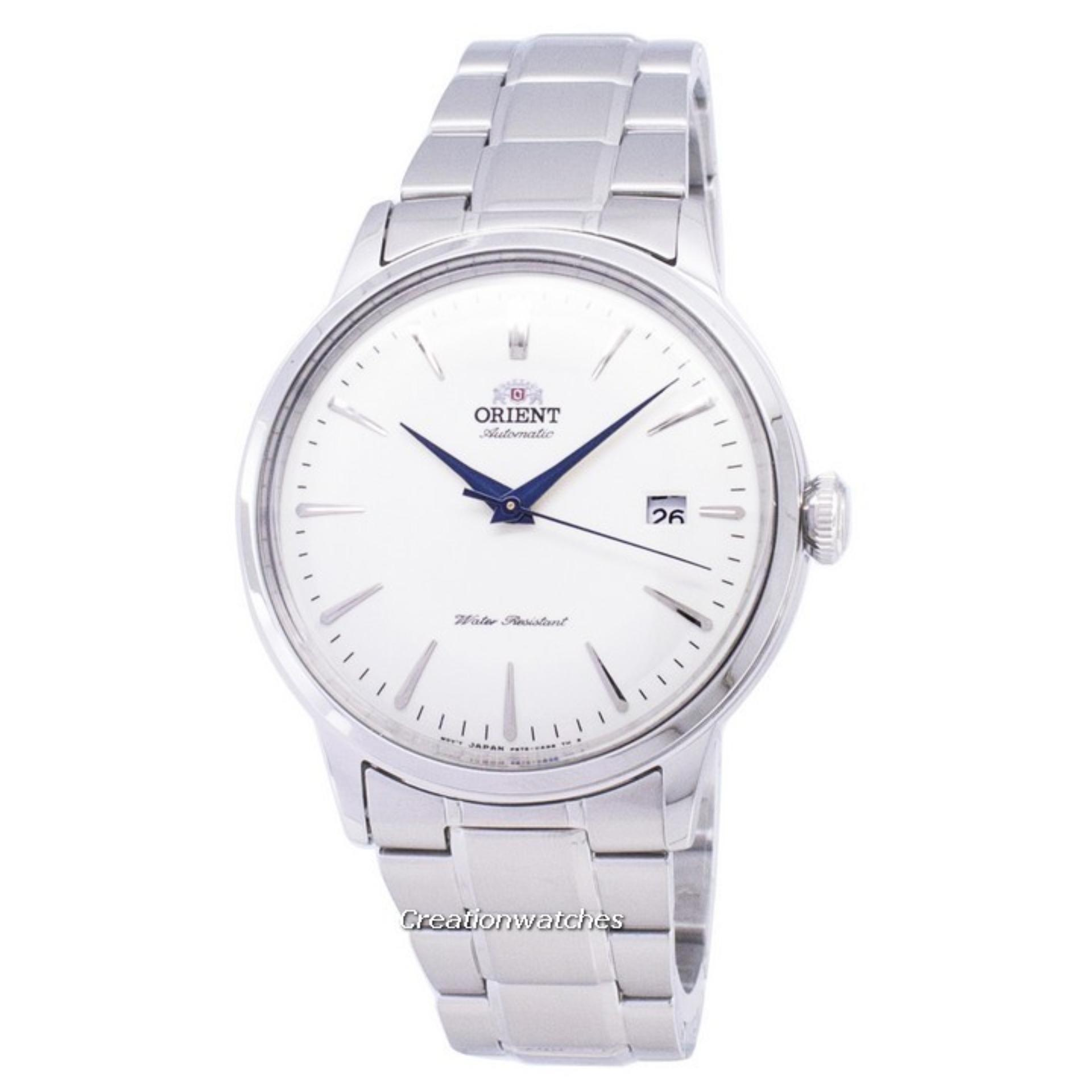 Orient Bambino Automatic Men's Silver Stainless Steel Bracelet Watch RA-AC0005S10B