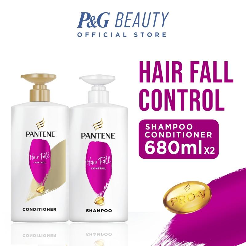Buy [Bundle of 2] Pantene Hair Fall Control Shampoo 680ml + Conditioner 680ml Singapore