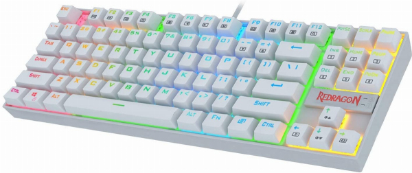 Redragon K552 Mechanical Gaming Keyboard 60% Compact 87 Key Kumara Wired Cherry MX Blue Switches Equivalent for Windows PC Gamers (RGB Backlit White) Singapore