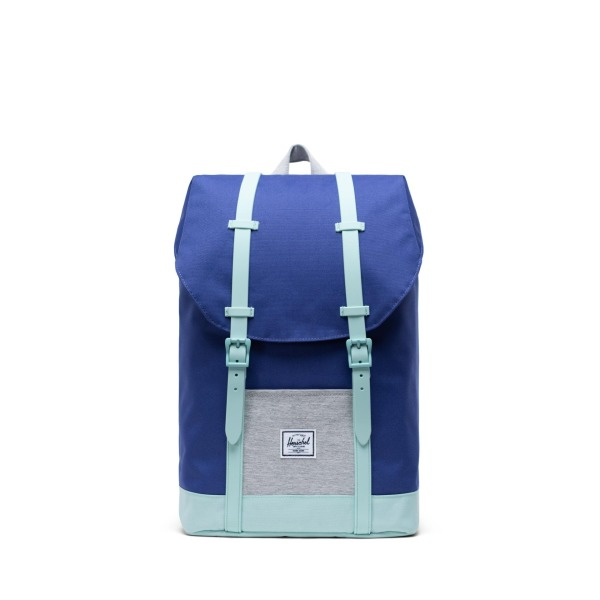 Herschel Retreat Youth - Orient Blue-Light Grey Crosshatch-Eggshell Blue