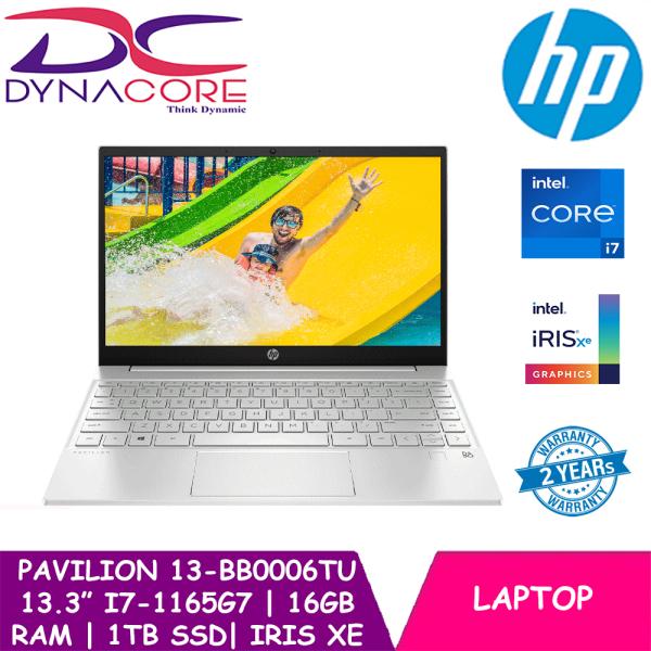 【DELIVERY IN 24 HOURS】 DYNACORE - HP Pavilion Laptop 13-bb0006TU 13.3inch UHD   Intel i7-1165G7   16GB RAM   1TB SSD   Iris Xe   Win10 Home   2Y HP Warranty+2Y HP ADP