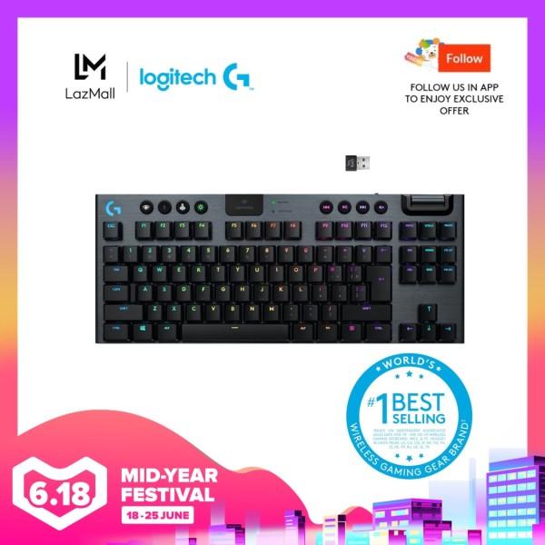 Logitech G915 TKL Tenkeyless Lightspeed Wireless RGB Mechanical Gaming Keyboard (Pre-Order) - Ship on 15th June Singapore