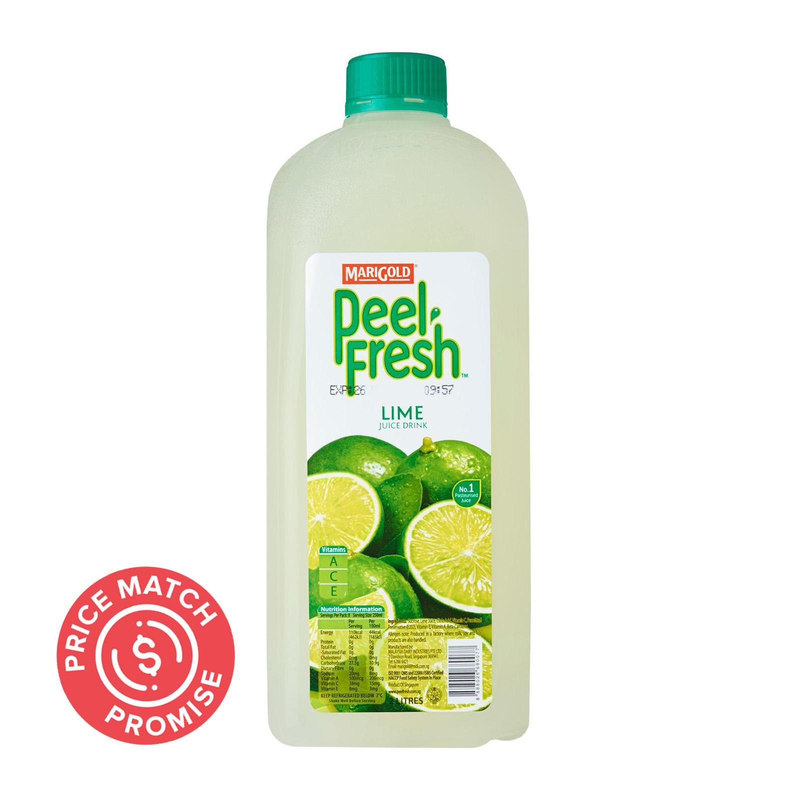 MARIGOLD Peel Fresh Juice Drink - Lime 2L
