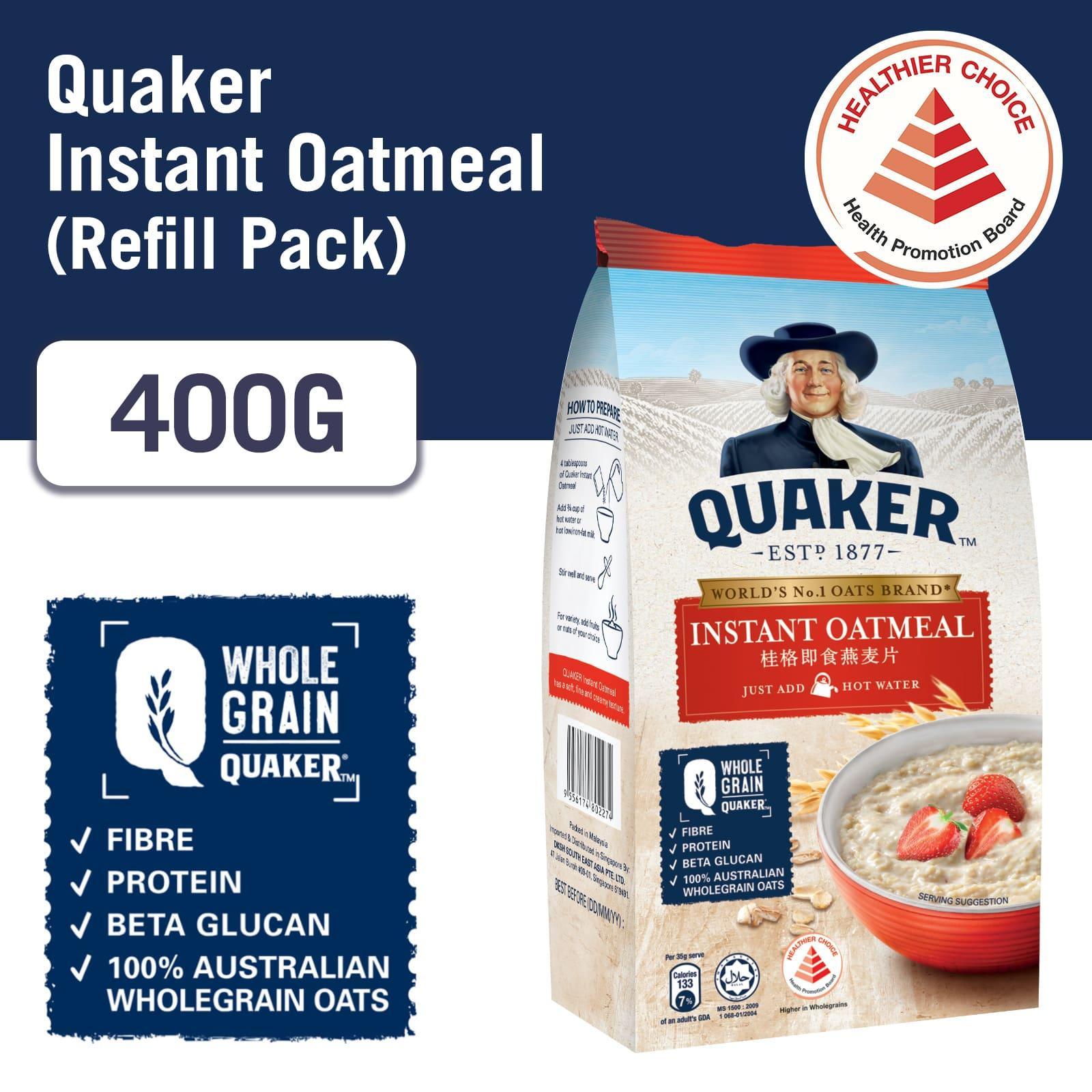 QUAKER Instant Oatmeal Refill 400g
