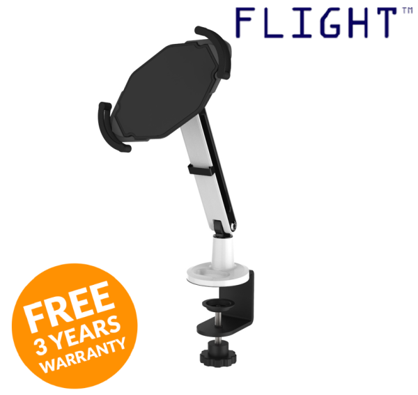 Laptop Holder, Laptop Tablet Stand, Laptop Arm, Tablet Arm, Available in Clamp or Grommet Type - TM-100 - Flight