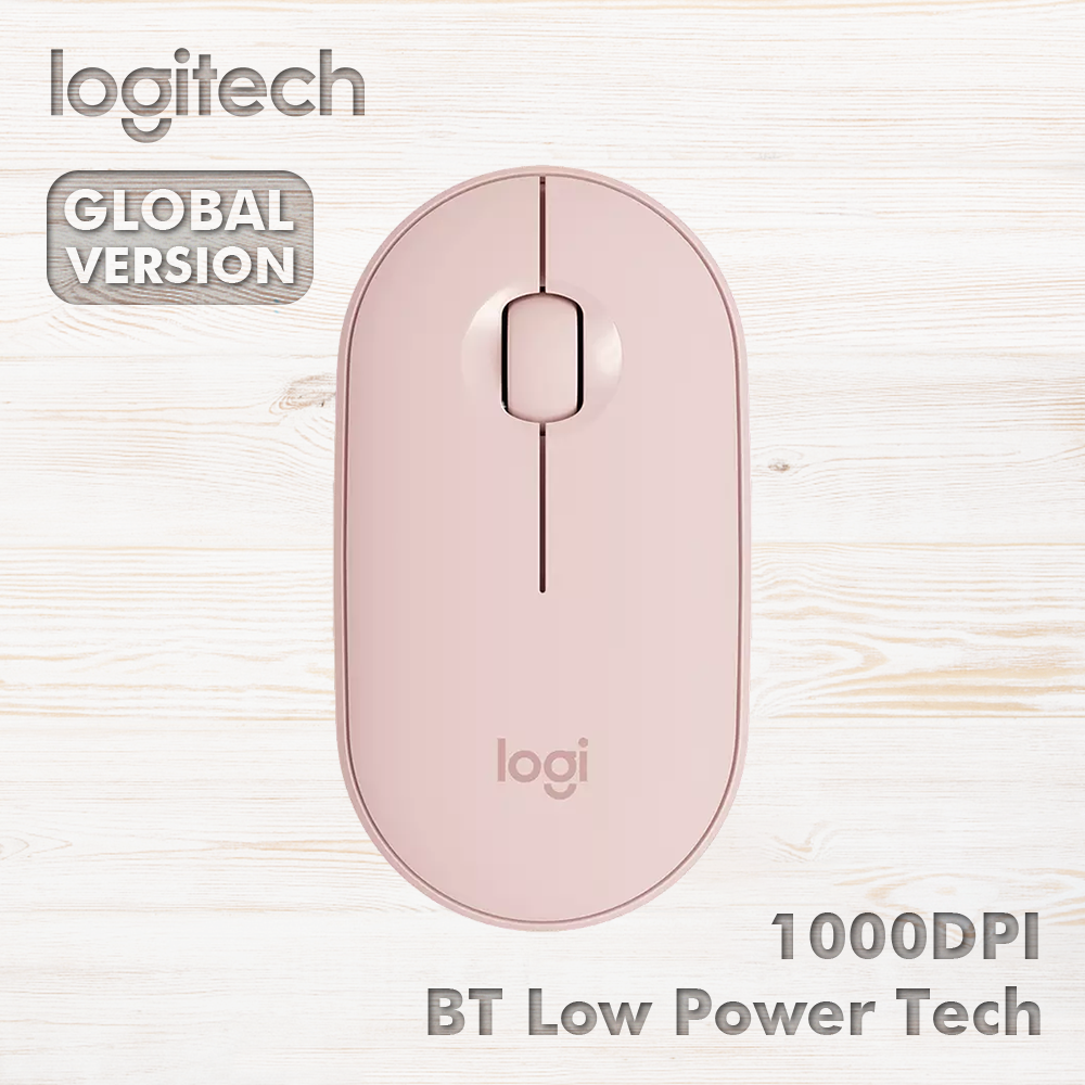 Logitech Pebble Wireless Mouse Bluetooth Mice Small and Light Low Power Technology Silent Multi-device 1000DPI s