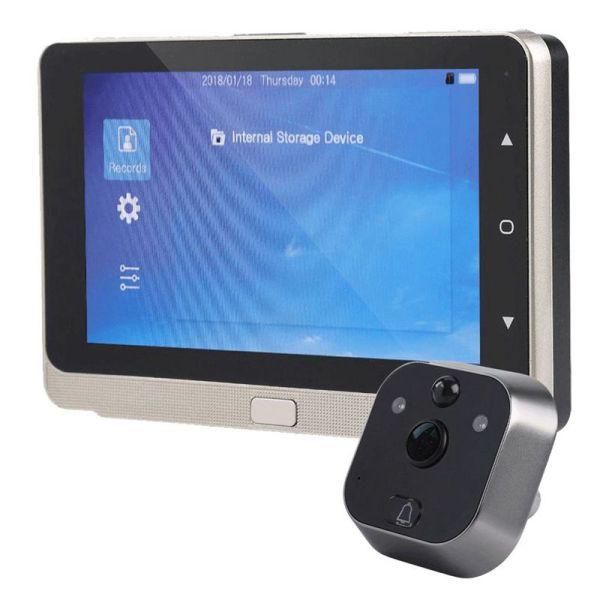 5.0 Inches OLED Display Color Screen Doorbell Viewer Digital Door Peephole Viewer Camera Door Eye Video record Wide Angle 160 Degrees