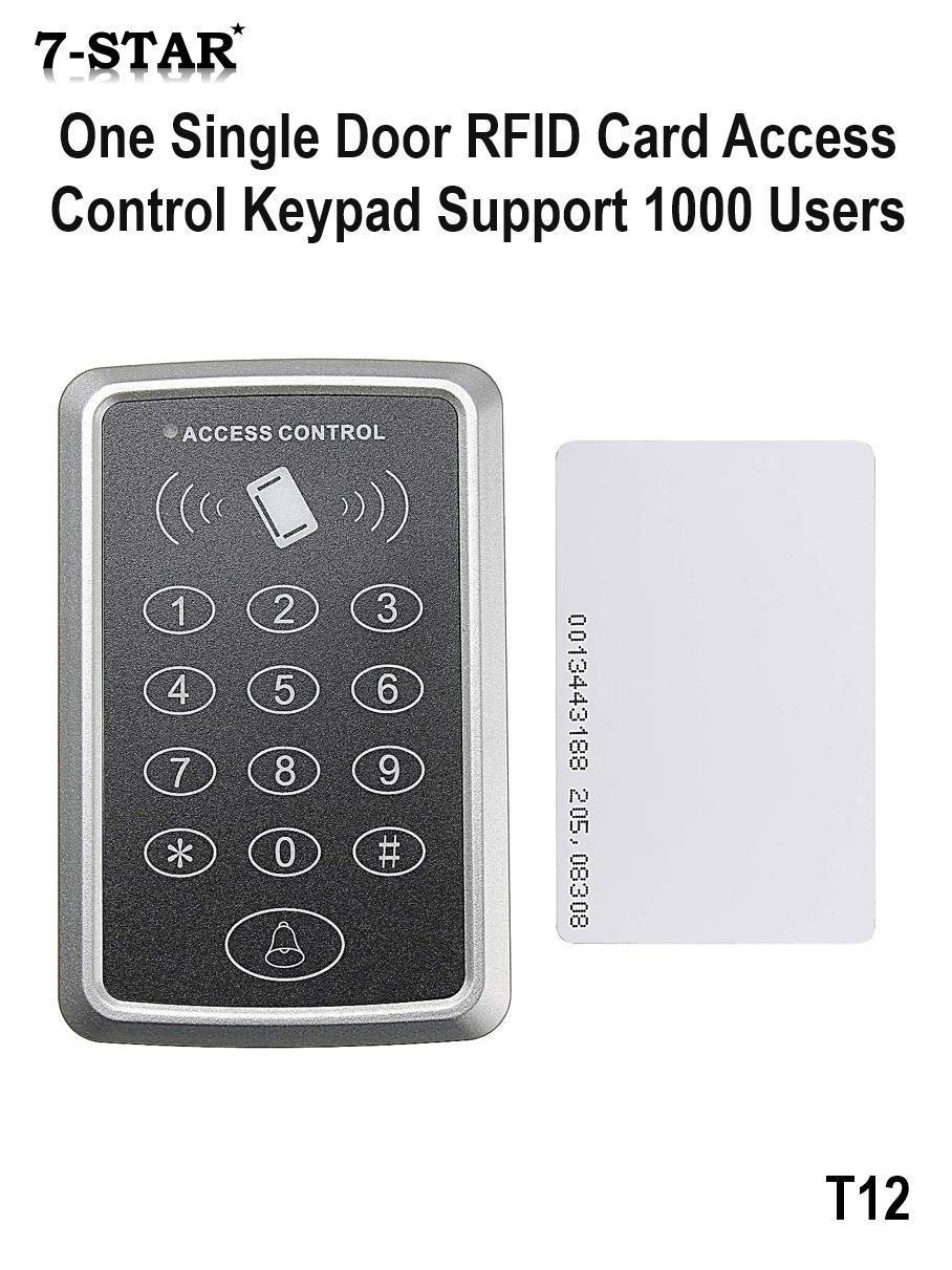 Door Access - Single Door Proximity RFID Card Access Control System with Keypad [125KHz - Support 1000 Users]