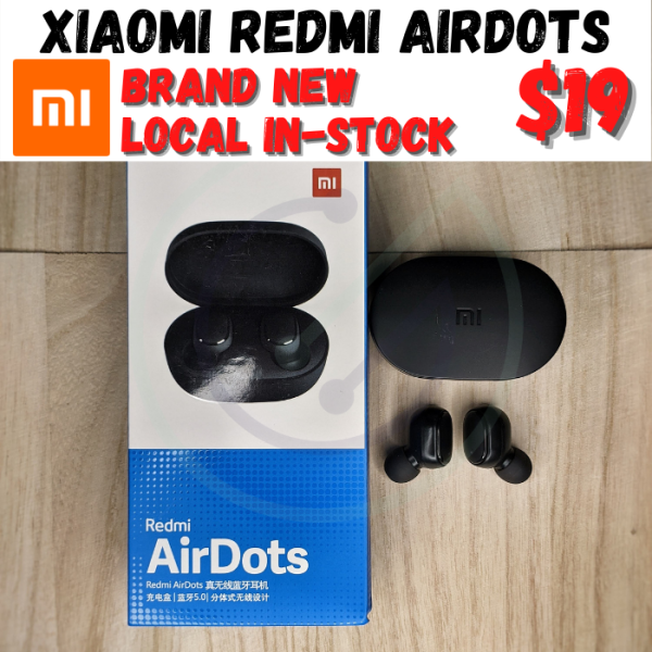 [2020 Version] AUTHENTIC Xiaomi Redmi Airdots TWS Bluetooth Headset True Wireless Earbuds with Microphone Singapore